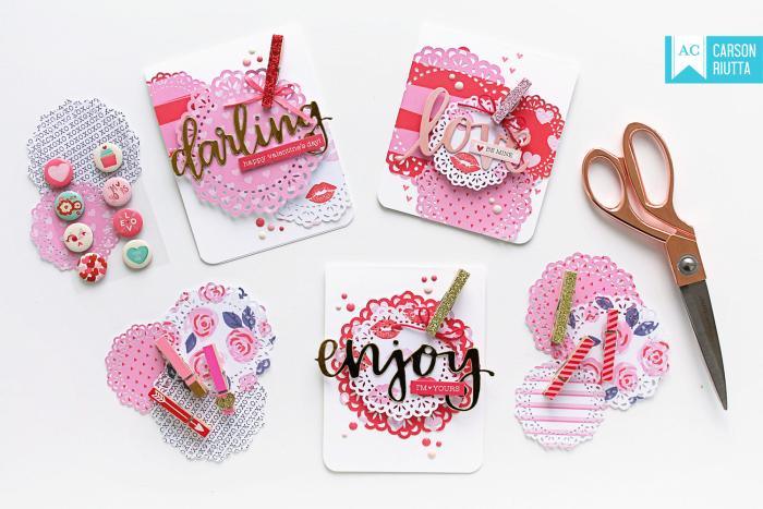 American Crafts Valentine Cards by Carson Riutta Spread