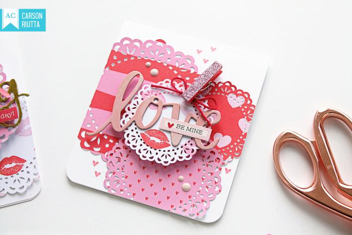 American Crafts Valentine Cards by Carson Riutta Love