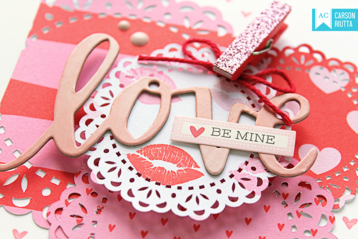 American Crafts Valentine Cards by Carson Riutta Love Close-up