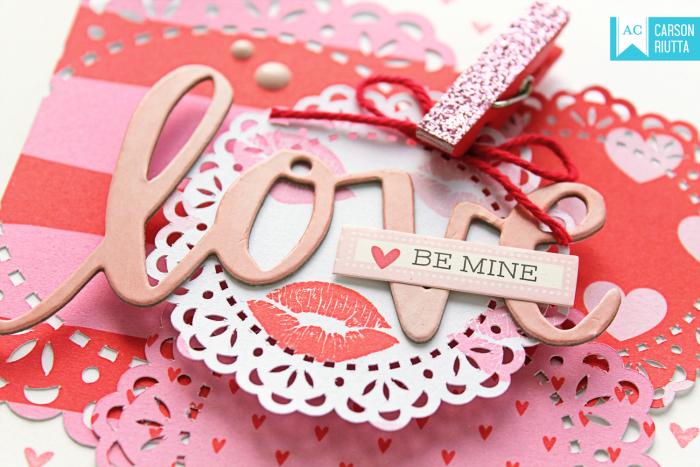 American Crafts Valentine Cards by Carson Riutta Love Close-up