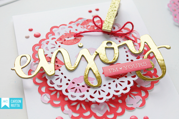 American Crafts Valentine Cards by Carson Riutta Enjoy Close-up