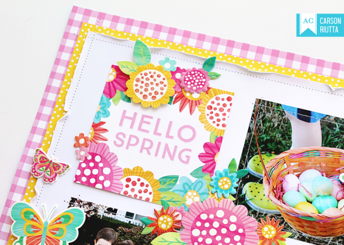 American Crafts Easter Scrapbook Layout by Carson Riutta 2
