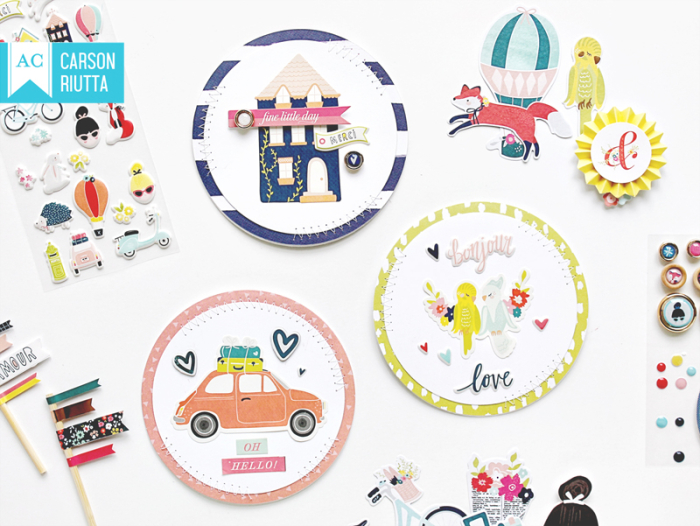 Lovely Day Small Pieces Cards by Carson Riutta 1