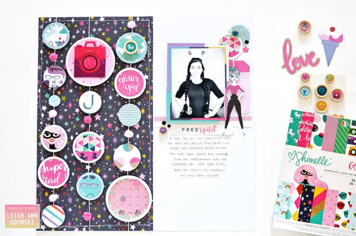 Glitter-Girl-Scrapbook-Page-American-Crafts-DT-watermark