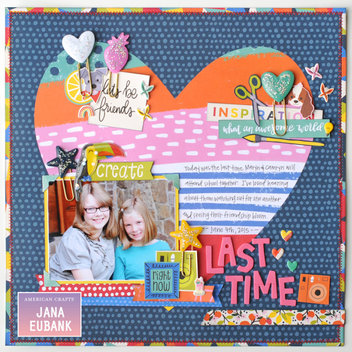 Jana-Eubank-American-Crafts-Shimelle-Box of Crayons-Last-Time-Scrapbook-Page-1-800