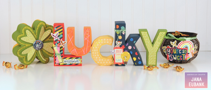 Jana Eubank - American Crafts - Shimelle - Box of Crayons - Lucky Letters 1 800