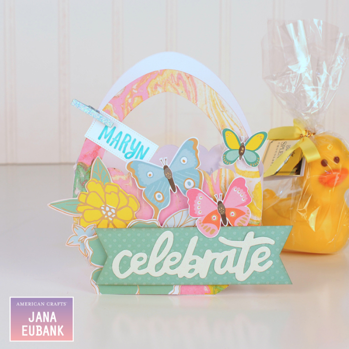 Jana Eubank - American Crafts - Dear Lizzy - Stay Colorful - Easter Egg Favor Bags 4 800