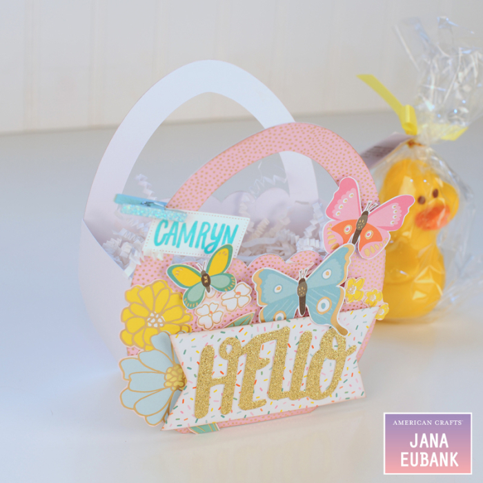 Jana Eubank - American Crafts - Dear Lizzy - Stay Colorful - Easter Egg Favor Bags 7 800
