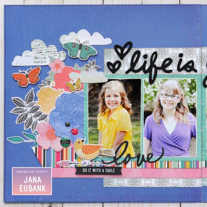 Jana Eubank - American Crafts - Vicki Boutin - All the Good Things - Life Is Good Scrapbook Page 2 800