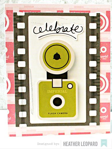 Celebrate card by Heather Leopard AC