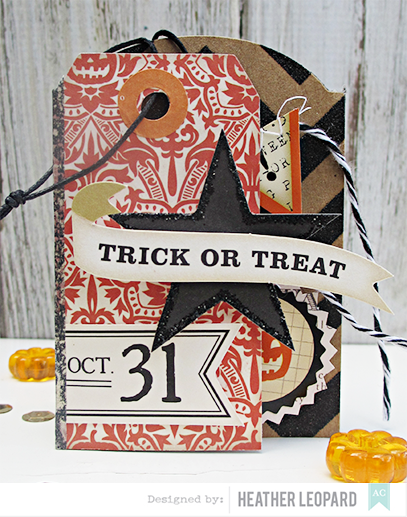 Trick or Treat Tri-fold Tag Card by Heather Leopard American Crafts