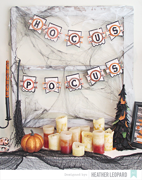 Hocus pocus banner by Heather Leopard American Crafts