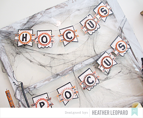 Hocus pocus banner details by Heather Leopard AC