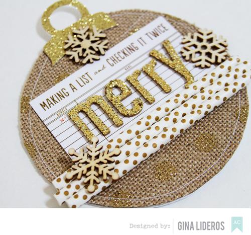 Gina Lideros Merry Christmas Card close1c