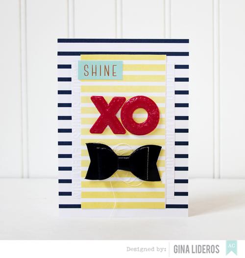 Gina Lideros Serendipity XO card