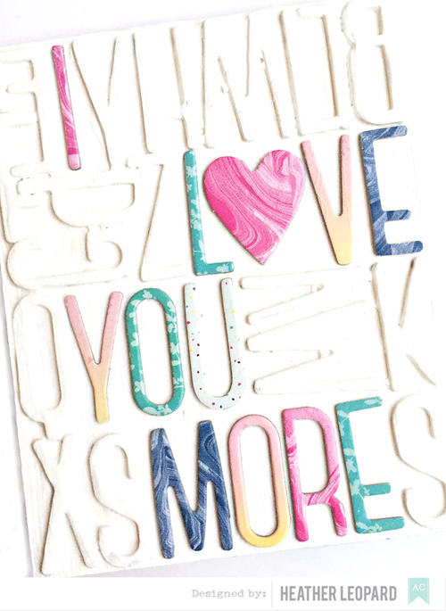 Love You More Mini Album Cover by Heather Leopard American Crafts