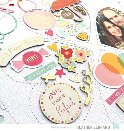 Lucky Me Heart Embellishments by Heather Leopard AC1