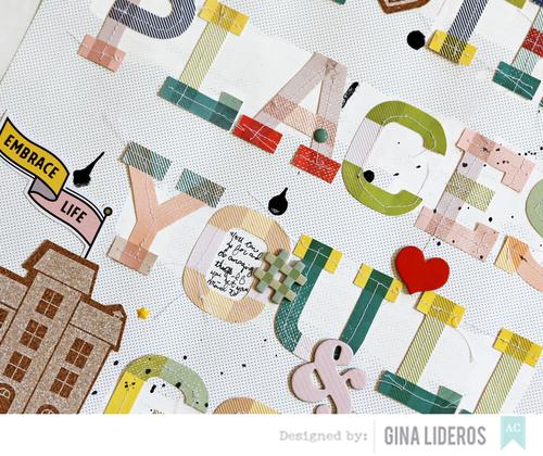 Gina Lideros kids layout AC closeup
