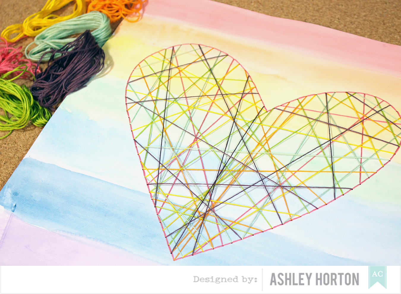 American Crafts Studio Blog: Watercoloring Wall Decor Tutorial by ...