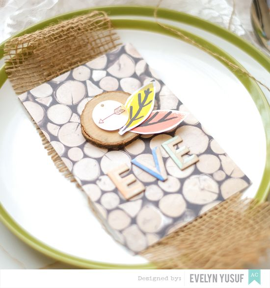 Fall Luncheon Table Card Amy Tan Finders Keepers Detail2  by Evelynpy