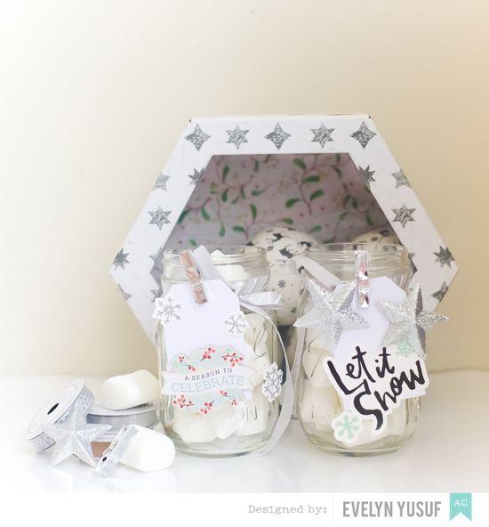 DIY marshmallow mason jar for winter by evelynpy