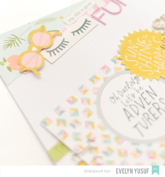 Summer Fun Details 1 American Craft Happy Place Dear Lizzy  by Evelynpy