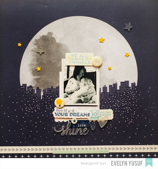 Shine Bright American Crafts Star Shine Shimelle Full   Layot by Evelynpy copy