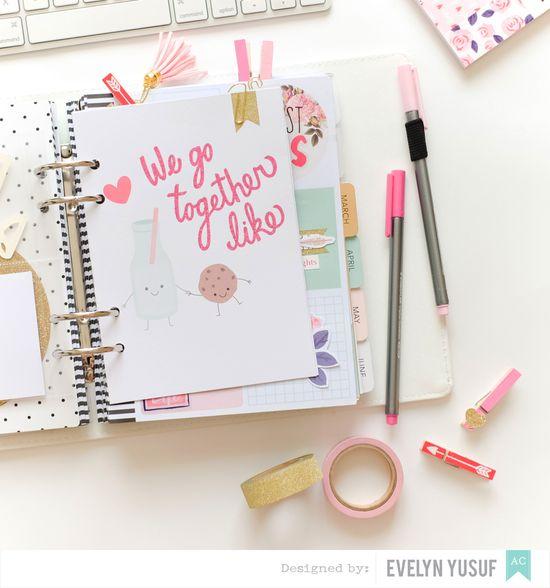 Feb Valentine Planner Spread Insert 2 by Evelynpy