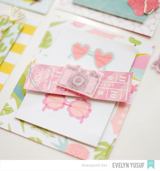 Summer invitations American Crafts Happy Place Dear Lizzy   Details2 by Evelynpy