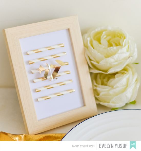 Gold Spring Table Setting by Evelynpy American Crafts DIY   Party Plan Details3