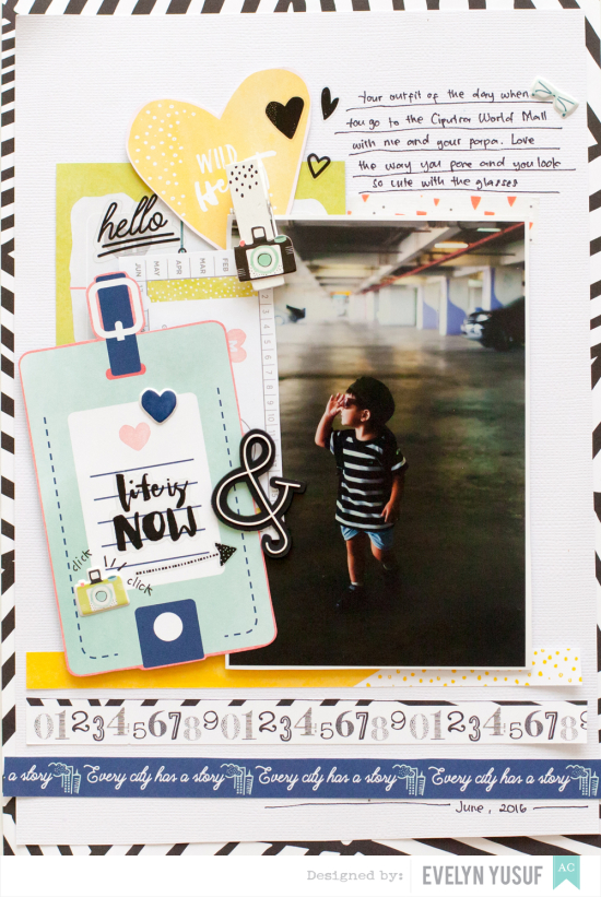 Life is Now My Son American Crafts Saturday Dear Lizzy   Full Layout by Evelynpy