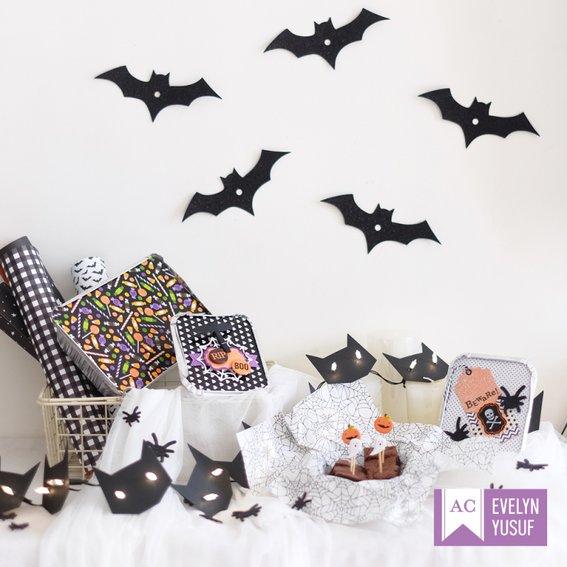 Halloween treat tins cover by evelynpy americancrafts
