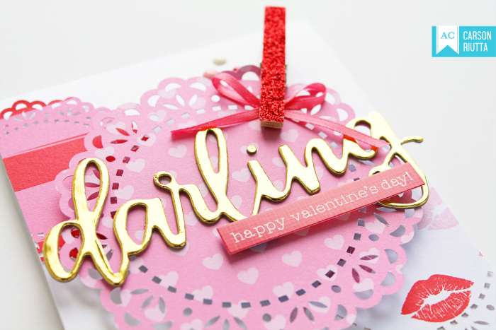 American Crafts Valentine Cards by Carson Riutta Darling Close-up
