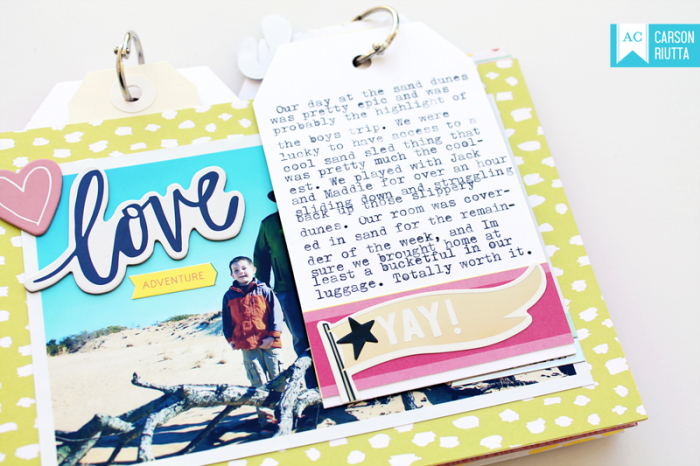 American Crafts Lovely Day OBX Mini by Carson Riutta Love