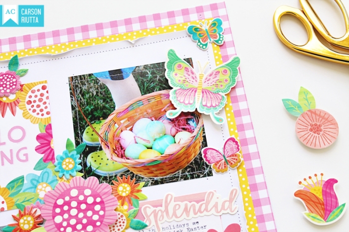 American Crafts Easter Scrapbook Layout by Carson Riutta 3