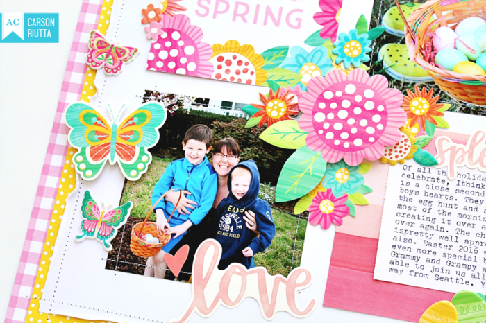 American Crafts Easter Scrapbook Layout by Carson Riutta 4