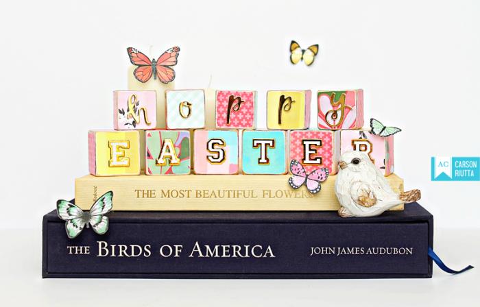 American Crafts Easter Block Home Decor by Carson Riutta 4