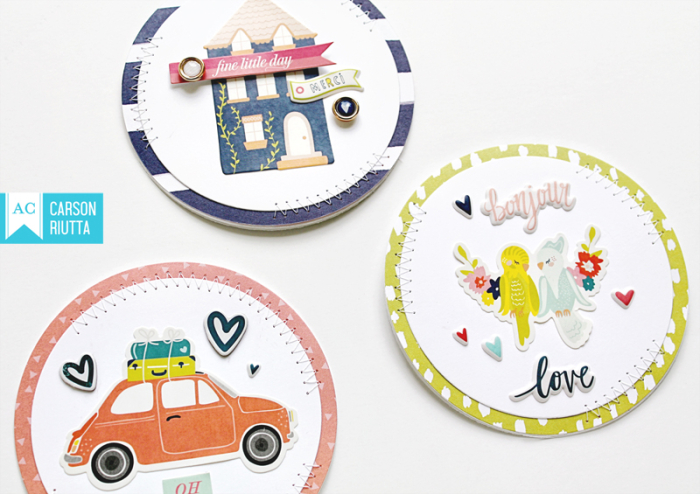 Lovely Day Small Pieces Cards by Carson Riutta 5