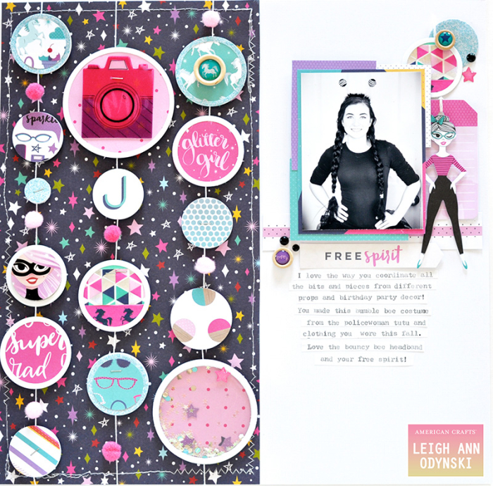 Glitter-Girl-Scrapbook-Page-American-Crafts-DT-halloween-cropped