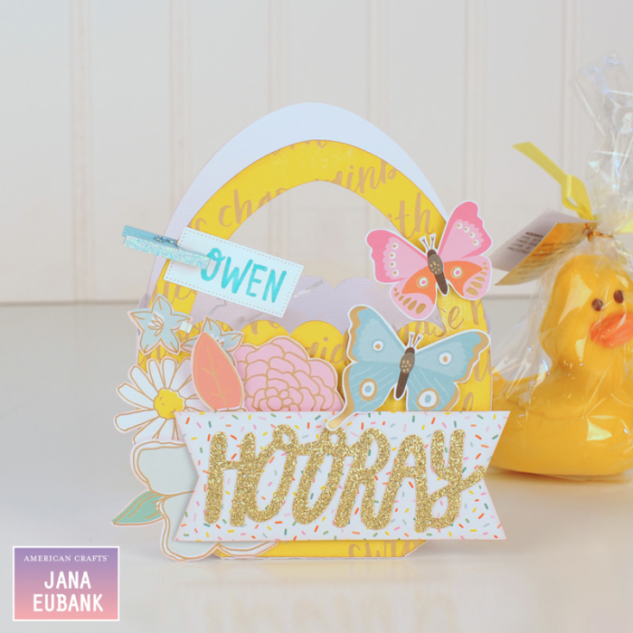 Jana Eubank - American Crafts - Dear Lizzy - Stay Colorful - Easter Egg Favor Bags 2 800