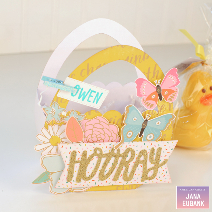 Jana Eubank - American Crafts - Dear Lizzy - Stay Colorful - Easter Egg Favor Bags 3 800