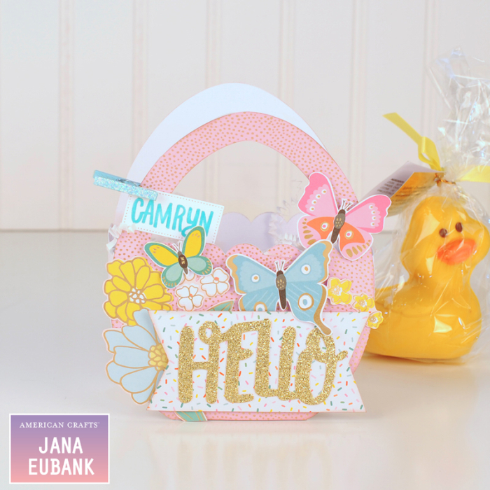 Jana Eubank - American Crafts - Dear Lizzy - Stay Colorful - Easter Egg Favor Bags 6 800