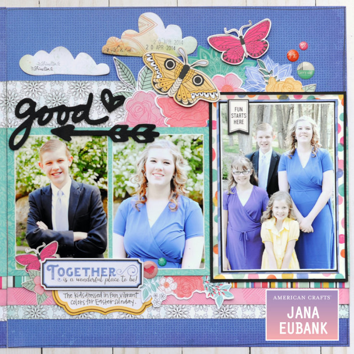 Jana Eubank - American Crafts - Vicki Boutin - All the Good Things - Life Is Good Scrapbook Page 3 800
