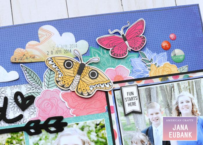 Jana Eubank - American Crafts - Vicki Boutin - All the Good Things - Life Is Good Scrapbook Page 7 800
