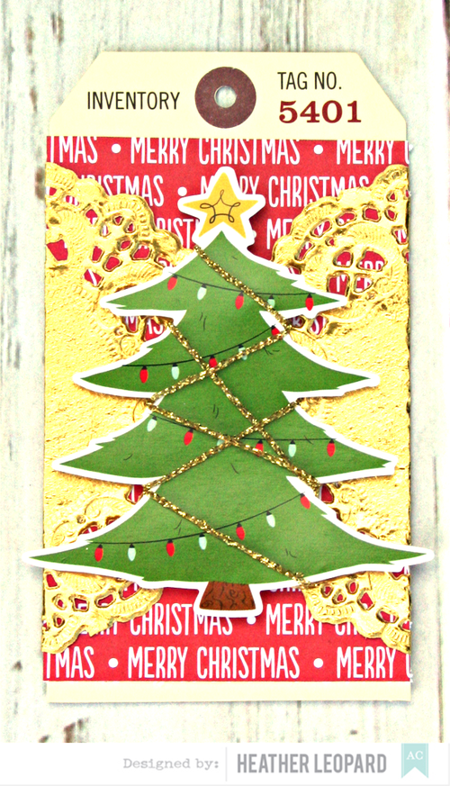 Christmas Tree Tag by Heather Leopard American Crafts