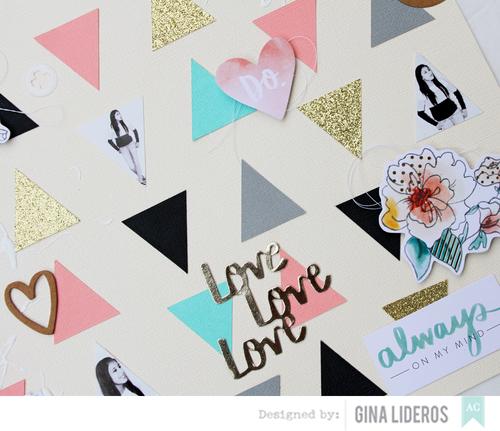 Gina Lideros No Patterned Paper layout close