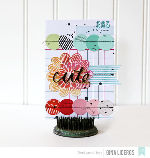 Gina Lideros Recycling card Cute