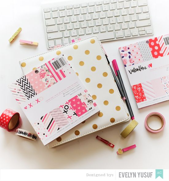 Feb Valentine Planner Spread Cover by Evelynpy