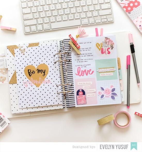 Feb Valentine Planner Spread Insert 3 by Evelynpy