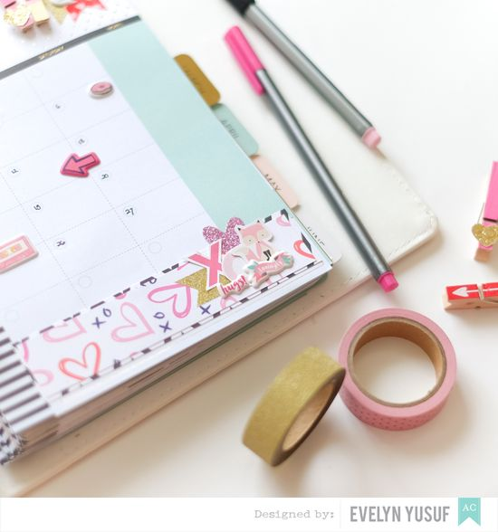 Feb Valentine Planner Spread Monthly Spread Details 2 by   Evelynpy